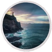 Twilight Symphony Round Beach Towel