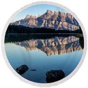 Two Jack Lake, Banff National Park, Alberta, Canada Round Beach Towel