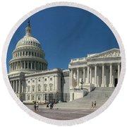 United States Capitol  Round Beach Towel