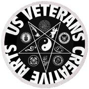 U.s. Veterans Creative Arts Round Beach Towel