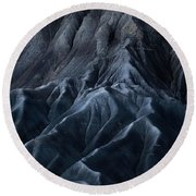 Utah Moonscape Round Beach Towel