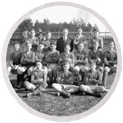 Vancouver Rugby Union  At Rowing Club 1928 Round Beach Towel