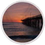 Round Beach Towel featuring the photograph Virginia Sunrise by Pete Federico