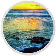 Washed Ashore Round Beach Towel