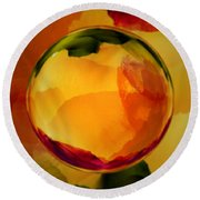 Watercolor Glass Marble  Round Beach Towel