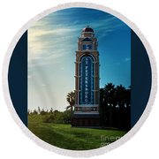 Welcome To St. Petersburg Round Beach Towel