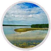 Wildlife Refuge On Sanibel Island Round Beach Towel