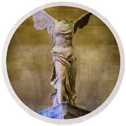 Winged Victory Of Samothrace - #11 Round Beach Towel