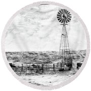 Winter Storm II Round Beach Towel