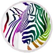 Zebra Transparency Round Beach Towel