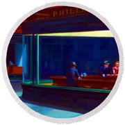 Nighthawks Round Beach Towel
