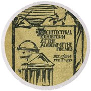 1894-95 Catalogue Of The Architectural Exhibition At The Pennsylvania Academy Of The Fine Arts Round Beach Towel