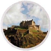 19/08/13 Edinburgh, The Castle. Round Beach Towel