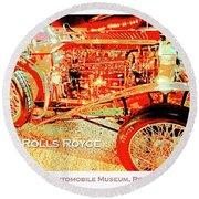 1921 Rolls Royce Classic Automobile Round Beach Towel