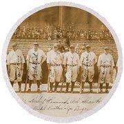 1927 New York Yankees Team Signed Photograph Round Beach Towel