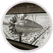 1928 Ford Tri-motor Round Beach Towel