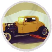 1932 Ford Coupe Round Beach Towel