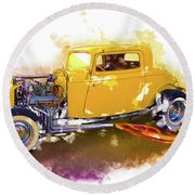 1932 Ford Hotrod Round Beach Towel