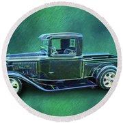 1934 Ford Pickup Round Beach Towel