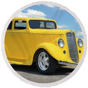 1935 Willys Coupe Round Beach Towel
