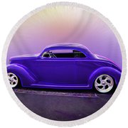 1937 Ford Coupe Round Beach Towel