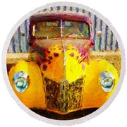 1940 Ford Round Beach Towel