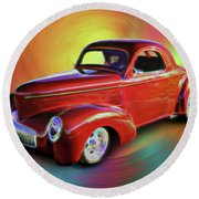 1941 Willis Coupe Round Beach Towel