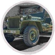 1942 Willys Gpw Round Beach Towel