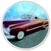 1949  Buick Convertable Round Beach Towel