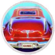 1949 Buick Cruiser Round Beach Towel