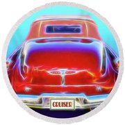 1949 Buick Cruiser Round Beach Towel