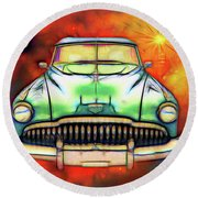 1949  Buick Headon Round Beach Towel