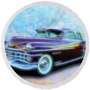 1950 Chrysler Round Beach Towel