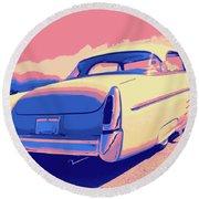 1953 Mercury Custom Round Beach Towel