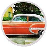 1954 Belair Chevrolet 2 Round Beach Towel
