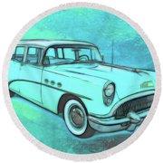 1954 Buick Wagon Round Beach Towel