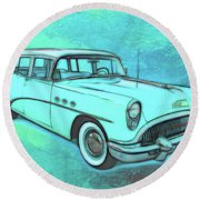 1954 Buick Wagon Round Beach Towel
