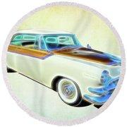 1956 Dodge Royal Round Beach Towel