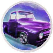 1956 Ford Truck Round Beach Towel