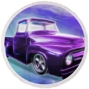1956 Ford Truck Round Beach Towel