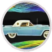1956 Thunderbird Round Beach Towel