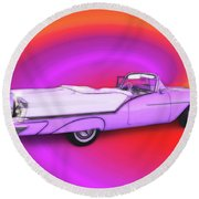 1957 Oldsmobile 98 Starfire Round Beach Towel