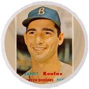 1957 Topps Sandy Koufax Round Beach Towel