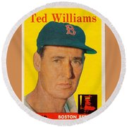 1958 Topps Ted Williams Round Beach Towel