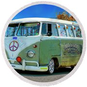 1959 V W Bus Round Beach Towel