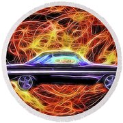 1961 Chevy Impala Round Beach Towel