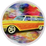 1961 Ford Wagon Round Beach Towel