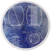 1962 Whiskey Aging Patent Blue Round Beach Towel