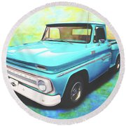 1965 Chevy Truck Round Beach Towel