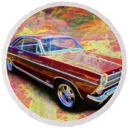 1966 Ford Fairlane Round Beach Towel